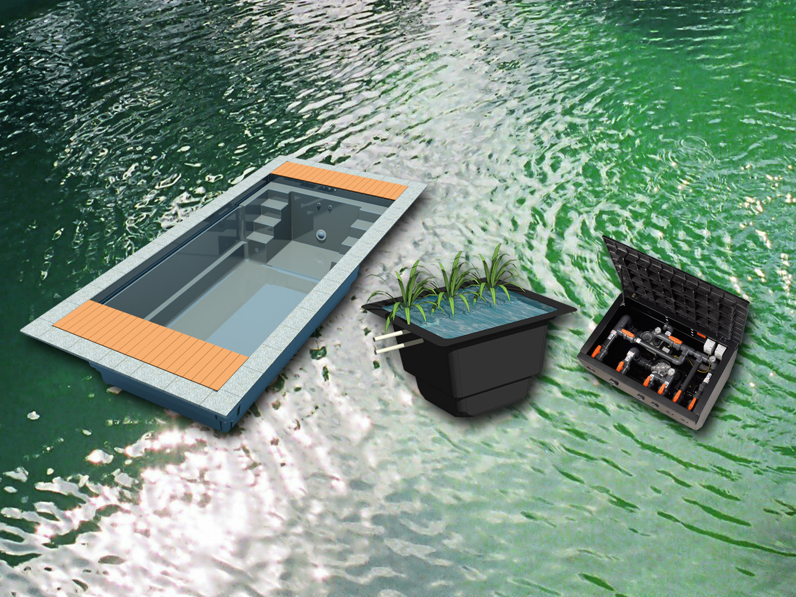 System balenapool for Fertigbecken pool
